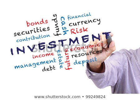 text on blackboard with money   risk management stock photo © zerbor