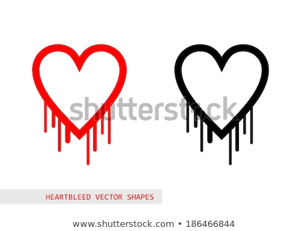 Heartbleed openssl bug vector shape, bleeding heart Stock photo © slunicko