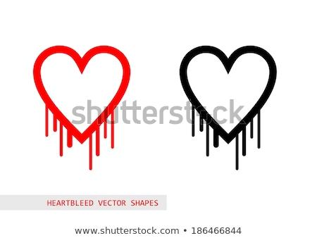 heartbleed openssl bug vector shape bleeding heart stock photo © slunicko