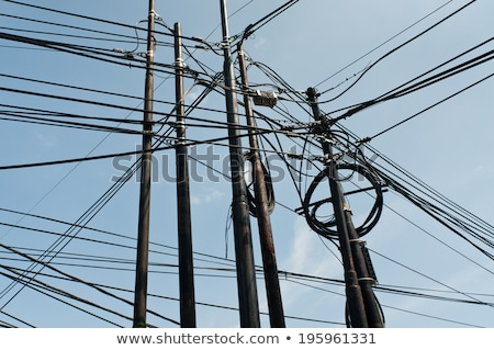 tangle of wires on the street Stock photo © ultrapro
