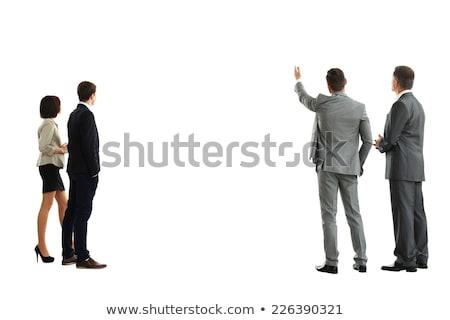 Portret zakenman geïsoleerd witte gezicht man Stockfoto © deandrobot