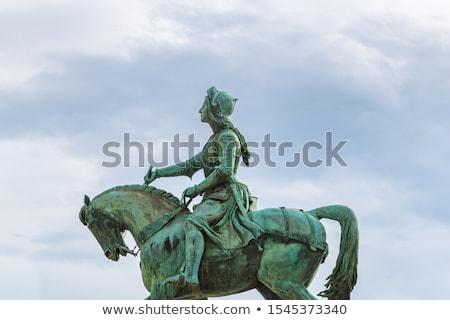 joan of arc in bronze stock photo © hofmeester