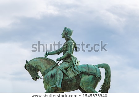 Париж · женщину · французский · флаг · Эйфелева · башня - Сток-фото © hofmeester