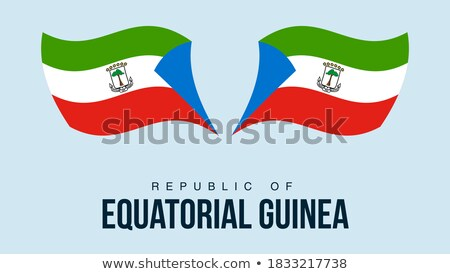 Map on flag button of Republic of Equatorial Guinea Stock photo © Istanbul2009