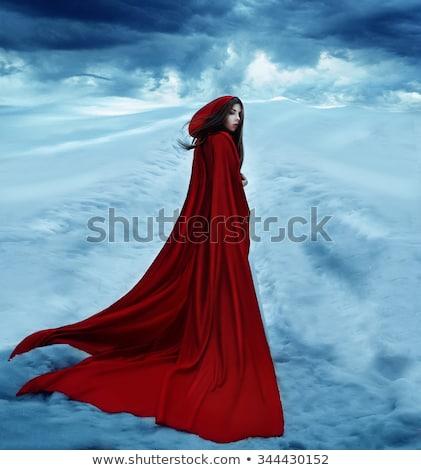 Mujer capa fantasía belleza jóvenes sueno Foto stock © godfer