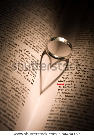 love wording and rings on a book Stock photo © vinnstock