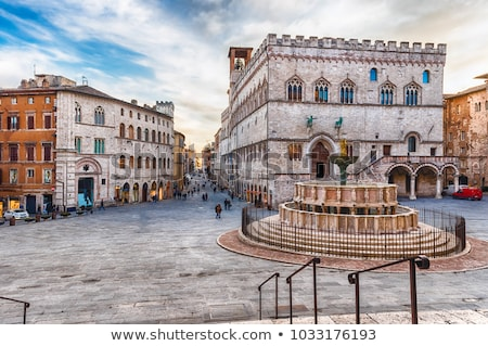 Cidade Itália ver centro da cidade pequeno casas Foto stock © MichaelVorobiev
