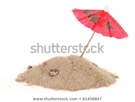 Cocktail Umbrella in Sand Mound   Stock photo © compuinfoto
