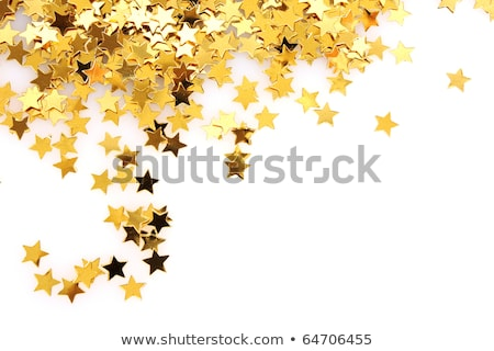 golden stars with spiral in red Stock photo © marinini