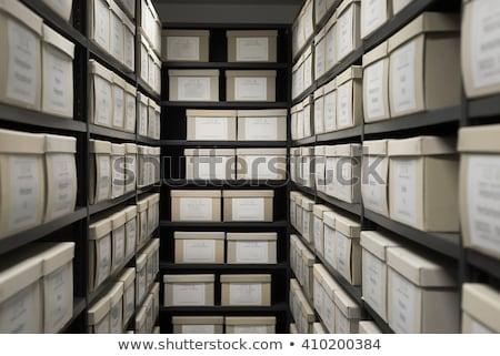 Kártya akta doboz archívum konzerv használt Stock fotó © Valeriy