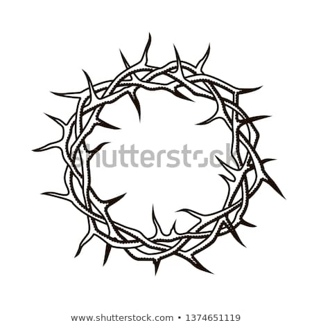 crown of thorns and cross stock photo © nito