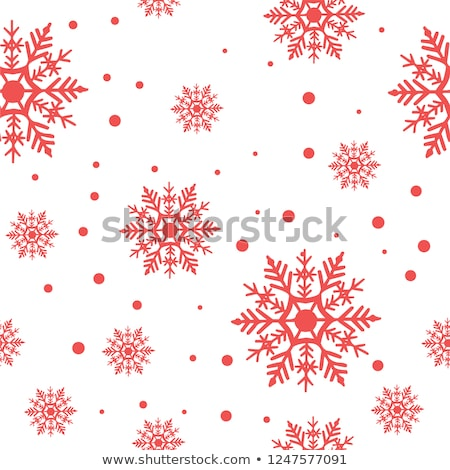 white snowflakes on red stock photo © pokerman