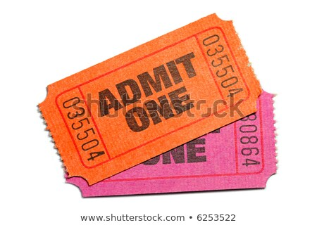 Orange Raffle Ticket Admit One Admission Enter Win Stock photo © iqoncept