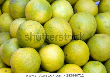 Fresh Juicy Lime On A Counter In The Market Of India Of Goa Stock fotó © mcherevan