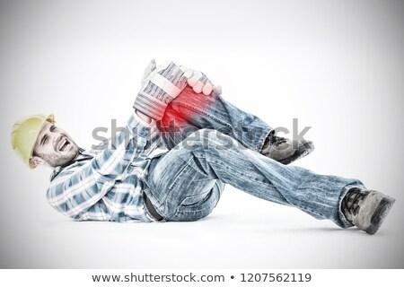 мужчины · техник · страдание · колено · более · изолированный - Сток-фото © wavebreak_media