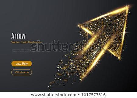 Altın oklar soyut düzenlenebilir vektör siyah Stok fotoğraf © Tawng