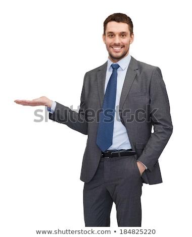 деловой человек ничего изолированный бизнеса человека Сток-фото © fuzzbones0