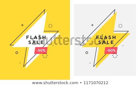 Flash odizolowany biały świetle technologii tle Zdjęcia stock © All32
