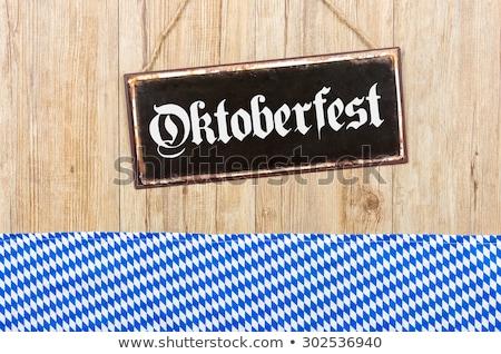Vecchio metal segno parola oktoberfest legno Foto d'archivio © Zerbor