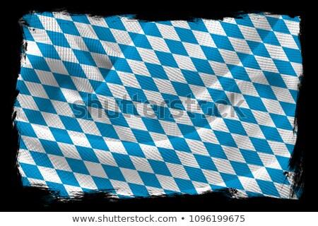 witte · Blauw · diamant · patroon · achtergrond · retro - stockfoto © zerbor
