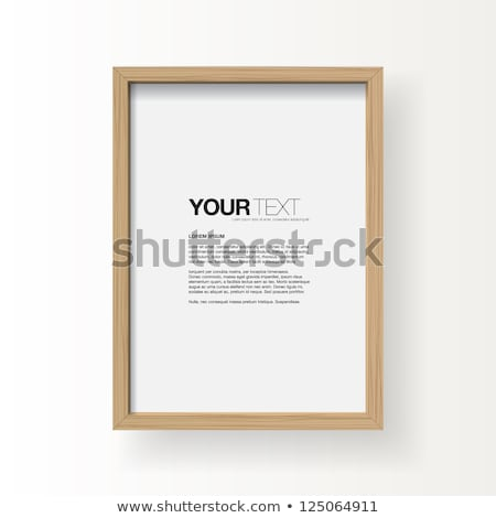 Realistic picture frame on wood background. Stock photo © teerawit