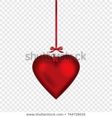 Cam kalp süsler barok dizayn Stok fotoğraf © ElaK