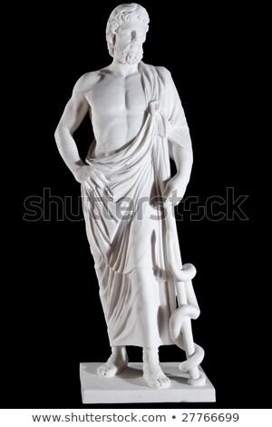 white marble classic statue of asclepius stock photo © artfotoss