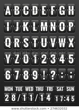 Black Friday, abc flipping panel. EPS 10 Stock photo © beholdereye