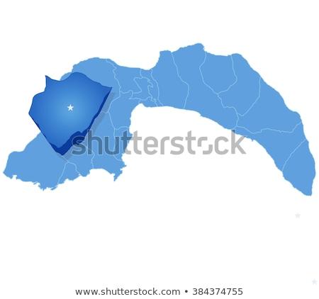 地図 · トルコ · 外に · 孤立した · 白 · 青 - ストックフォト © istanbul2009