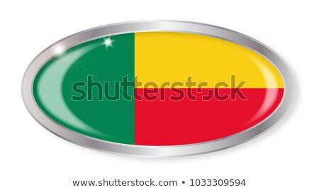 Pavillon ovale bouton argent isolé blanche Photo stock © Bigalbaloo