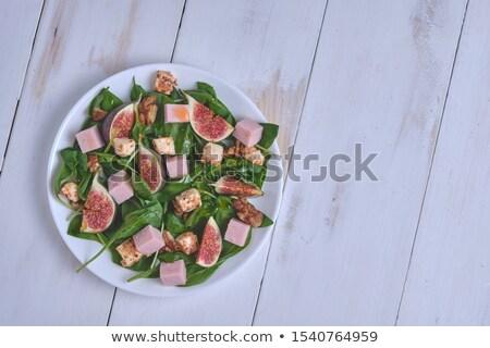 緑 · サラダ · フライド · チーズ · サラダドレッシング · 食品 - ストックフォト © digifoodstock
