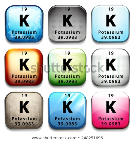 A button showing the element Potassium Stock photo © bluering