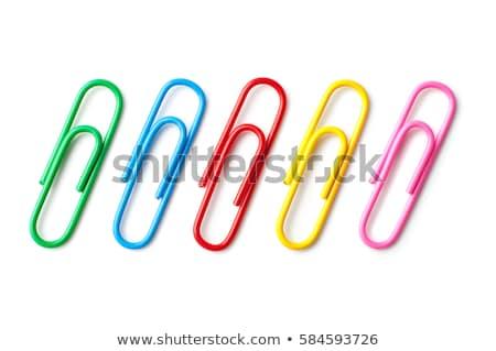 Kleurrijk papier geïsoleerd witte business voorjaar Stockfoto © pakete