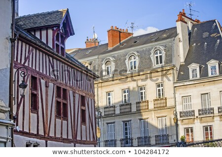 ancient half-timbered houses in Dijon, France Stock photo © meinzahn