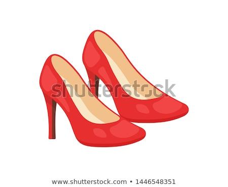 Vektor hölgyek piros cipők illusztráció nő Stock fotó © rioillustrator