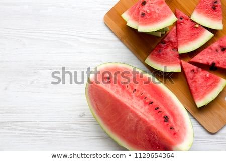 melancia · de · branco · comida · natureza - foto stock © vlad_star