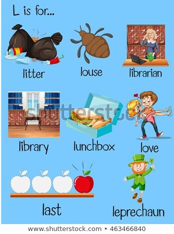 Flashcard letter L is for litter Stock photo © bluering