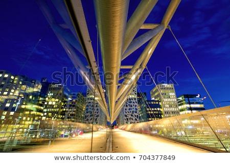 歩行者 橋 オスロ ノルウェー 建物 市 ストックフォト © vladacanon