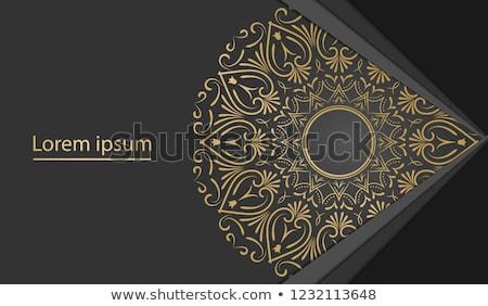 arany · virágmintás · medál · illusztráció · vektor · terv - stock fotó © blackmoon979