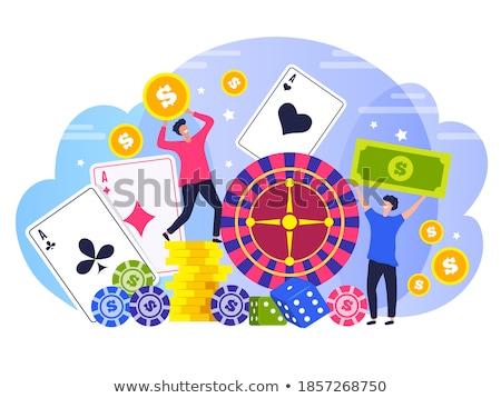 estilizado · jogos · de · azar · pôquer · illustrator · eps8 - foto stock © day908