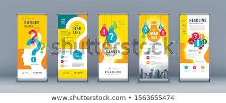аннотация компания листовка шаблон бизнеса маркетинга Сток-фото © SArts
