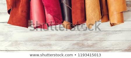 Rolls of Colorful Leather Stock photo © zhekos