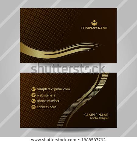 минимальный волнистый визитной карточкой дизайн шаблона корпоративного компания Сток-фото © SArts