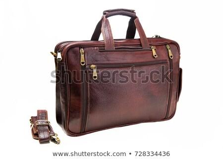 Handtas bruin leder illustratie ontwerp achtergrond Stockfoto © bluering
