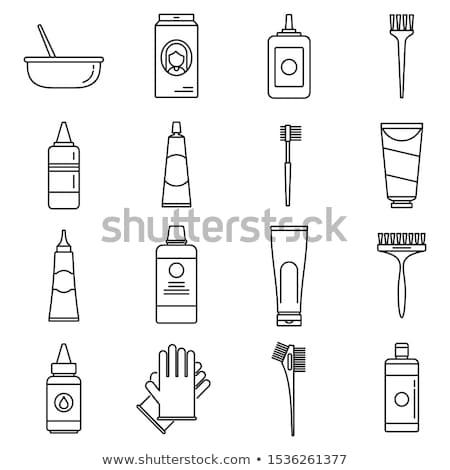 cabelo · ferramenta · branco · raso · beleza · cor - foto stock © shutter5