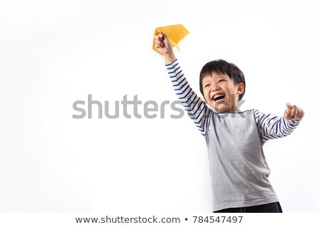 Asian kids with happy face Stock photo © bluering