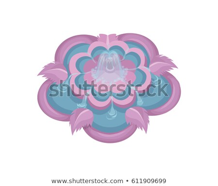 Colorful Water Fountain with Floral Elements in Pink Vector Stock photo © Loud-Mango