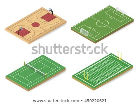 ikon · oyun · alanı · futbol · izometrik · spor - stok fotoğraf © kup1984