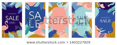 夏 ポスター デザイン レトロな ヤシの葉 ストックフォト © ivaleksa