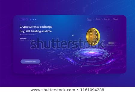 Digitális valuta technológia stílus üzlet hálózat Stock fotó © SArts